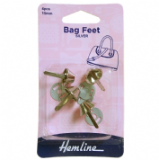 Hemline Silver Bag Feet - 15mm